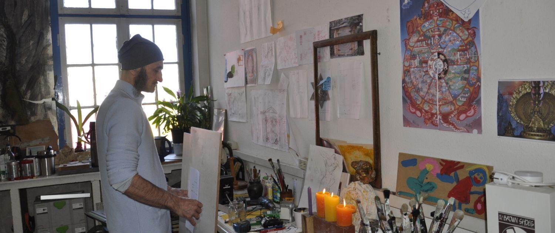 Künstler im Atelier/Bullerdeich