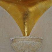 Deckenbeleuchtung - Goldblatt - Eckenverrundung