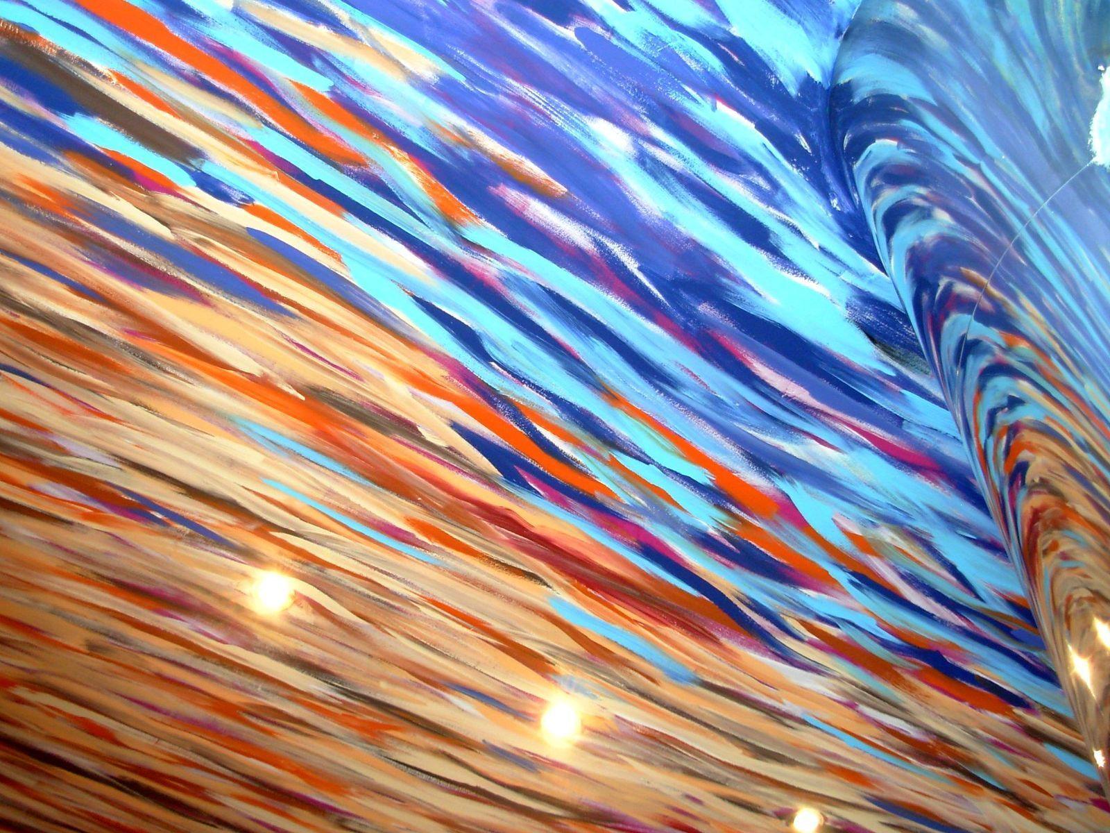 Deckenmalerei - Blau - Orange