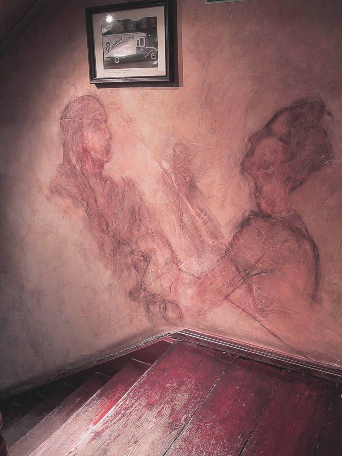 Ein Paar - Wandzeichnung - Fresk