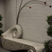 Gartenobjekt - Schneckenbank - Metallfühler