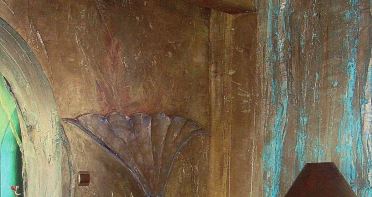 Farbenkunst- Wandstruktur - Balkendecke