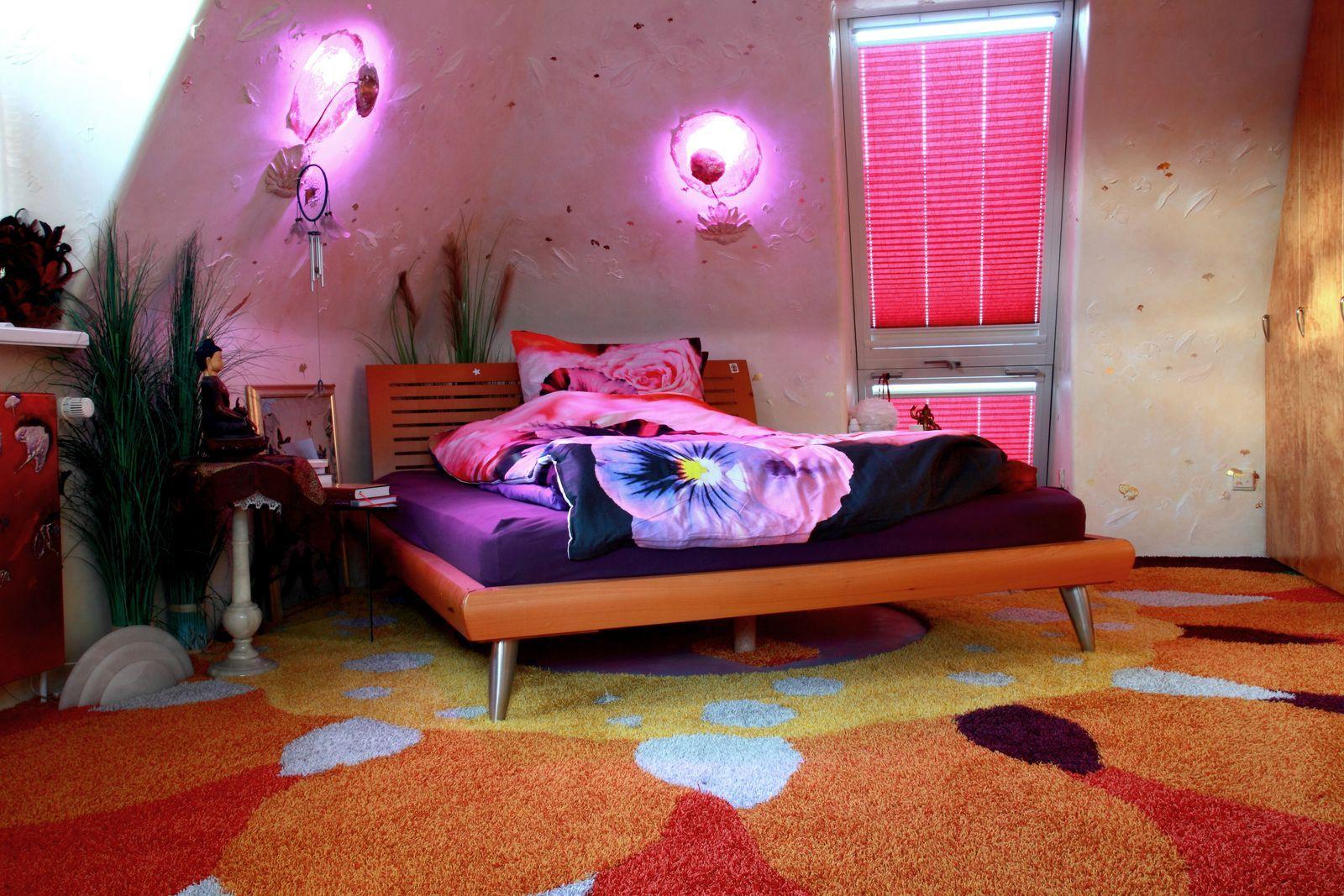 Teppichbild - Lampenrundung - Wandputz