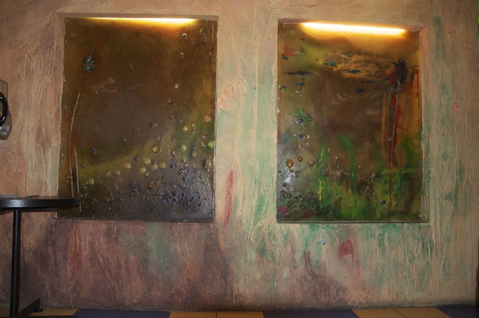 Meereswelten - Harzfenster- Wandschnitzerei