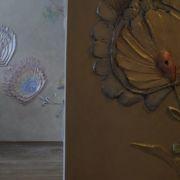 Folkloreblumen - Geformt - Wandpastelle