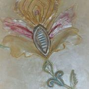 Folklorerelief - Blumenskulptur - Farbenglanz