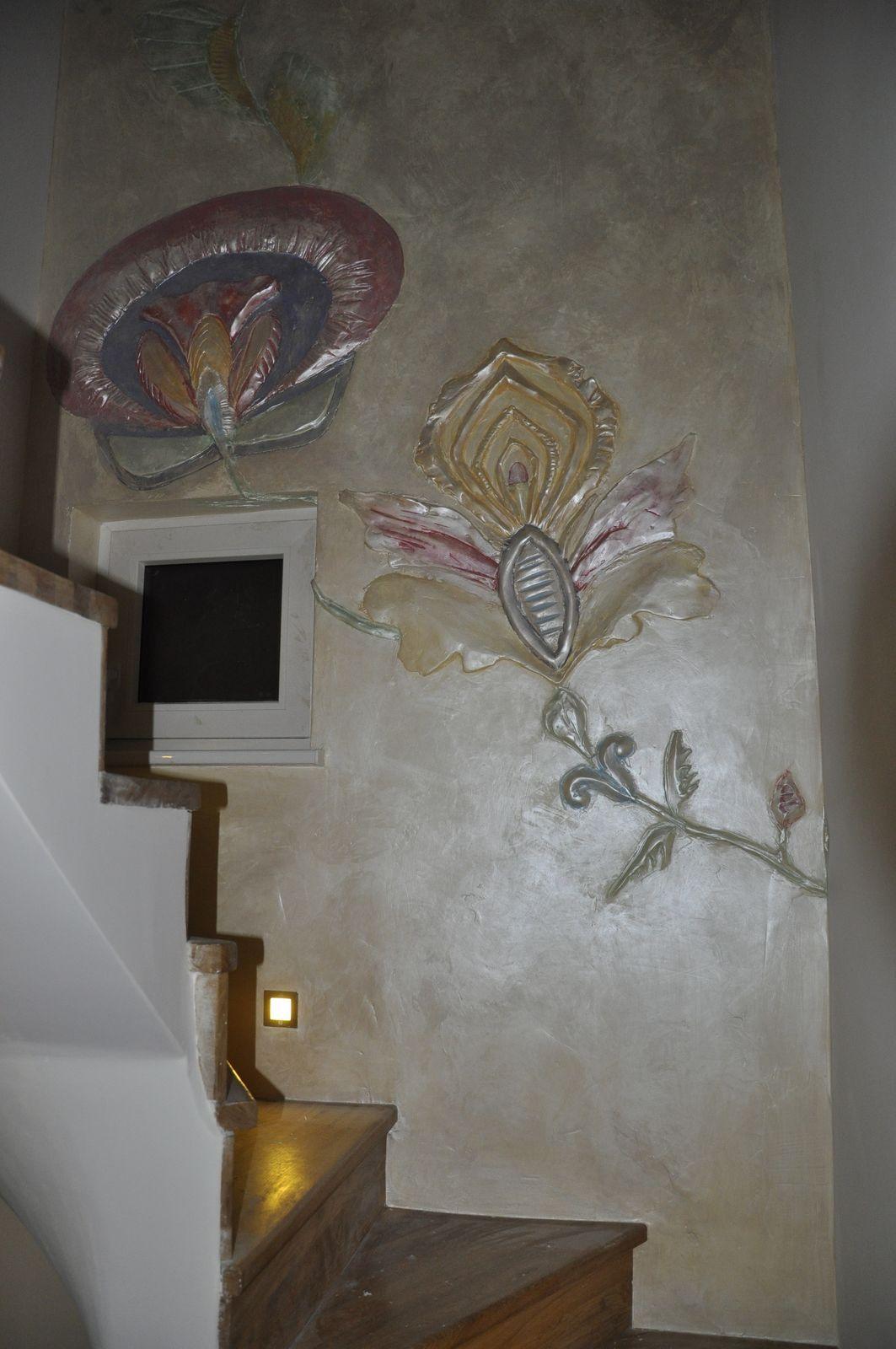 Treppenhausblumen - Blumenornamente - Silberglanz