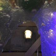 Spiegelumrahmung - Glasengel - Eingangsbereich