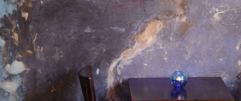 Wanddesign - eigene Auftrag - und Wischtechnik
