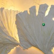 Ginkgoblattlampen - Wandbeleuchtung - Privathaus Sasel