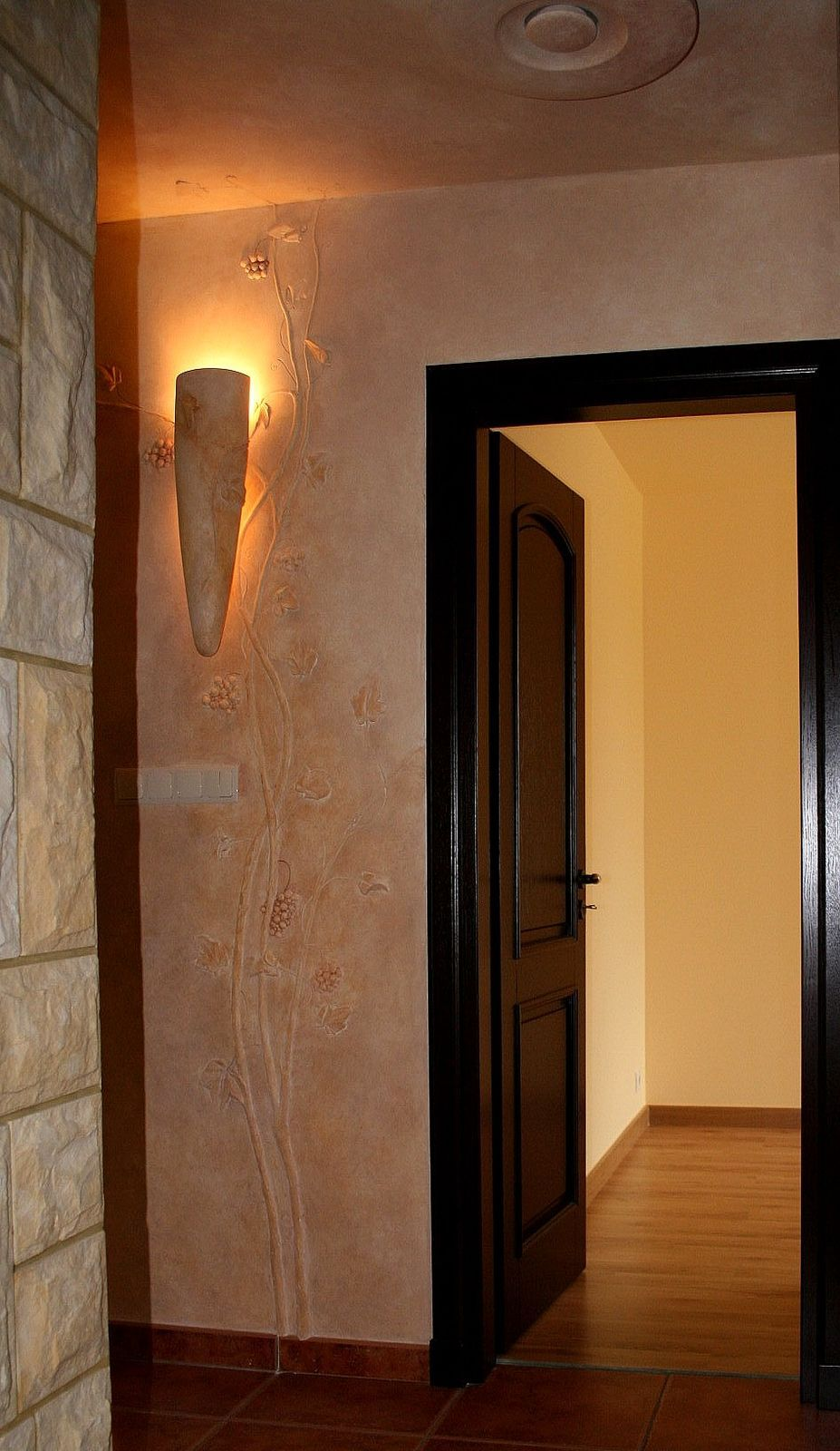 Wandrelieflampe - Deckenlampe - Tupftechnik