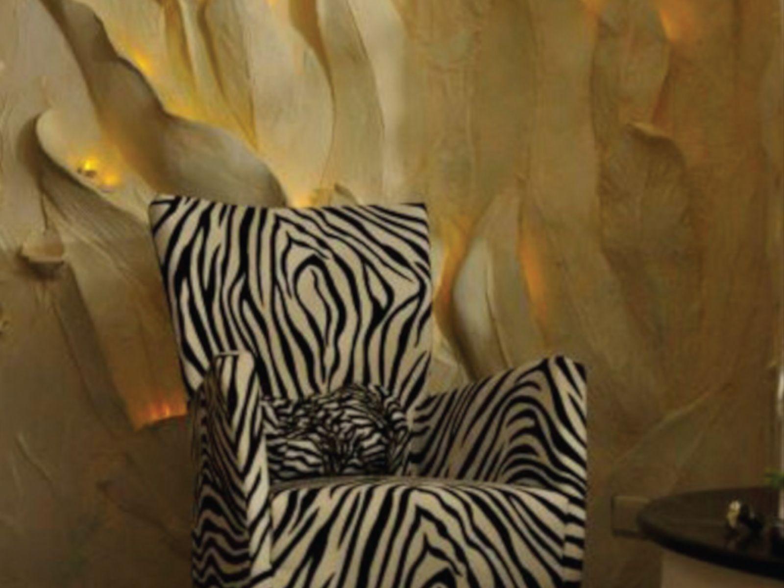 Zebrastoff - Wandsulpturen - Teelichter